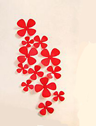 Hot Sale 12Pcs Wall Art Wall Stickers Decal 3D Flower Home Decors