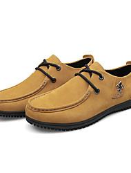 scarpe da ginnastica unisex primavera / autunno comodità camoscio casuale tacco piatto giallo / sneaker grigio
