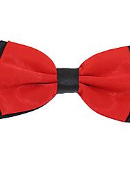 Adjustable Men Wedding Party Double Layer Silk Bowtie Bow tie