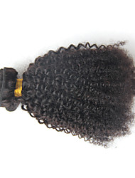 Brazilian Virgin Hair Kinky Curly 1pcs  6A dark African American Short Hair Styles Brazilian Curly Hair