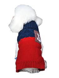 Katzen / Hunde Kostüme / Pullover / Kleider Orange / Blau / Rosa / Grau Hundekleidung Winter / Frühling/HerbstPlaid/Karomuster /