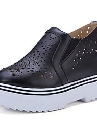 Damen-High Heels-Büro / Kleid / Lässig-Lackleder / Kunstleder-Keilabsatz-Wedges / Absätze / Plateau / Komfort / Pumps / Rundeschuh-
