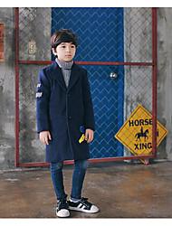 Traje y Blazer Boy-Vacaciones-Un Color-Poliéster-Otoño-Azul