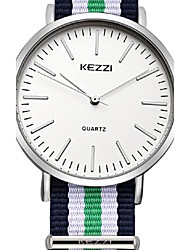 KEEZI hot sale and new design 3 colors band quartz watches 1502A