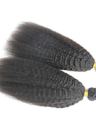 7A Brazilian Virgin Hair Kinky Straight 2Bundles 100% Human Hair Brazillian Yaki Straight Hair