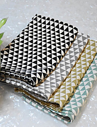 1Pcs Nordic Style Geometry 100%cotton Table Mat Napkins Placemat Kitchen Insulation Pads Kitchen Coaster Random Color