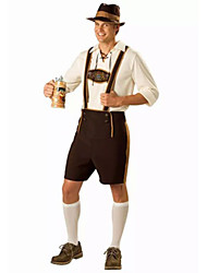 Costumes de Cosplay / Costume de Soirée Fête d'Octobre/Bière / Serveur / Serveuse Fête / Célébration Déguisement Halloween Blanc / Fuschia