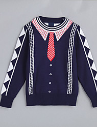 Boy's Casual/Daily Color Block Sweater & CardiganCotton Fall Blue