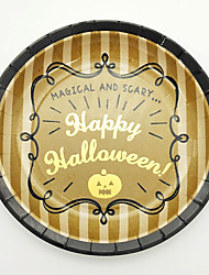 Hallowoon  tipping paper plates six gold foil Hallowoon gift