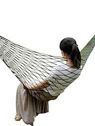 A single green nylon 360 grams of outdoor leisure hammock hammock Bold version AT6718