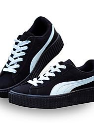 Unisex Sneakers Spring / Fall Comfort Fabric Casual Flat Heel  Black / Yellow / Beige Sneaker