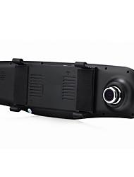 1080p двойной линзы зеркало заднего вида автомобиля подложка изображение широкоугольный ночного видения HD вождение рекордер