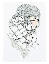 1pc Temporary Women Men Body Leg Art Tattoo Sticker White Lotus Fairy Picture Styling Tattoo Design HB-244
