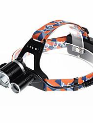 U`King® Налобные фонари / Ремешок для налобного фонаря LED 5000LM Люмен 4.0 Режим Cree XM-L T6 18650Перезаряжаемый / Компактный размер /