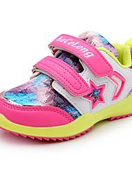 Unisex Sneakers Spring / Fall Comfort / Round Toe PU Athletic / Casual Flat Heel Others / Hook & Loop Black