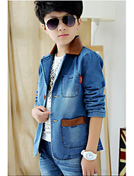 Boy's Casual/Daily Solid JeansCotton Blue