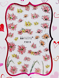 Ultrathin Semitransparent  Imitate Dried flower 3D Nail Stickers