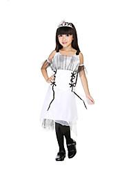Costumes de Cosplay / Costume de Soirée Cosplay Déguisement Halloween Blanc Mosaïque Robe / Couronnes / Plus d'accessoiresHalloween / Le