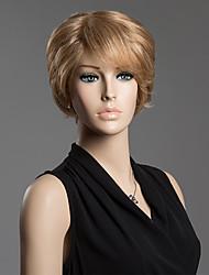 desgrenhado cabelo humano anti alice cabelo sem tampa lado peruca curta estrondo