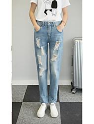 Women's Solid Blue Jeans PantsCute / Street chic Summer