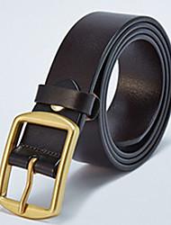 Men Cowhide Skinny BeltFashionable Jewelry / Work Alloy All Seasons