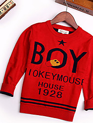 Boy's Casual/Daily Print Sweater & CardiganCotton Winter / Spring / Fall Black / Red
