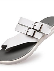 Girl's Slippers & Flip-Flops Summer Slippers PU Casual Flat Heel Buckle Black / Blue / White Others