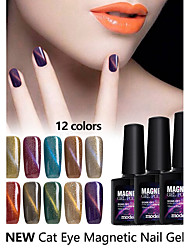 Vernis Gel UV 10ml 1 Magnétique / Soak Off / Paillettes / Gel de Couleur UV / Scintillant / Gelée / NeutreFaire tremper au large de Long