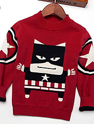 Boy's Casual/Daily Embroidered Sweater & CardiganCotton Winter / Spring / Fall Black / Red