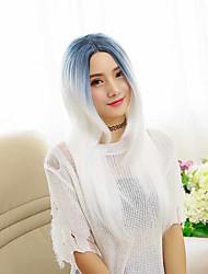 Perruques Capless Perruques pour femmes Bleu Costume Perruques Perruques Cosplay