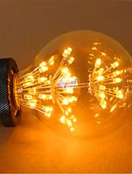2 E26/E27 Bombillas LED de Globo G125 49 LED Dip 800 lm Amarillo Decorativa AC 100-240 V 1 pieza