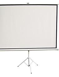 excelente carta tela de projeção de 100 polegadas 4 suporte de plástico branco tela de projeção portátil 3 simples casa de hd