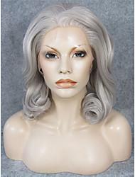 imstyle 16 Natural procura misturar onda cinza rendas sintética do laço do cabelo peruca dianteira