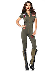 Costumes de Cosplay / Costume de Soirée Soldat/Guerrier Fête / Célébration Déguisement Halloween Vert Couleur PleineCollant/Combinaison /