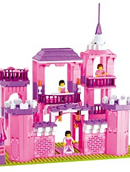Building Blocks For Gift  Building Blocks Model & Building Toy House Plastic Above 6 Pink Toys