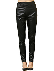 Women's Leather Trousers/ Pants Casual /Simple 03