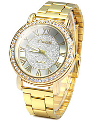 YTwatch Golden Color Ladies Quartz Watch with Luxury Diamond Stainless Steel Band