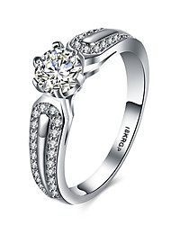 lureme 18kRPG Cubic Zirconia Wedding Engagement Band Ring