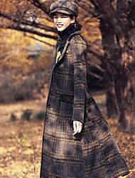 Aporia.As Women's Shirt Collar Long Sleeve Wool & Blends Green-MZ07042