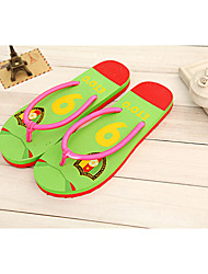 Unisex Slippers & Flip-Flops Summer Comfort Cotton Casual Flat Heel Others Green Red Others