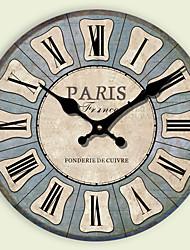 1PC The Mediterranean European Rural Idyll Retro Bracket Clock  Adornment Mute Hanging Clock(Pattern is Random)
