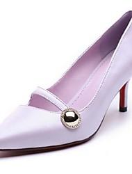 Homme-Extérieure-Rose / Violet-Talon Aiguille-Talons-Chaussures à Talons-Cuir