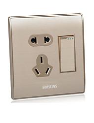 um G6 interruptor aberto cinco único buraco de alumínio de controle de desenho do fio
