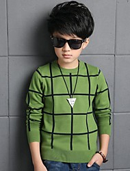 Boy's Casual/Daily Check Sweater & CardiganCotton Winter Green / Red / Gray
