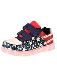 Boy's LED'S Shoes Sneakers Spring / Fall Comfort / Flats Athletic / Casual Flat Heel Magic Tape / LED Dark Blue