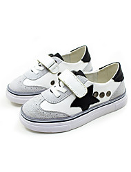 Unisex Sneakers Spring / Summer / Fall / Winter Comfort Leather Athletic / Casual Flat Heel Magic Tape Black