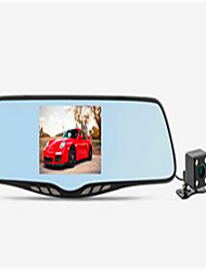 Ling Degrees HS880D Driving Recorder Double Lens Rear Mirror Large Screen Wide Angle With Reverse Image 1080P