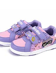 Mädchen Turnschuhe Frühling / Herbst Komfort Stoff beiläufige flache Ferse Magic Tape pink / lila / rot Sneaker