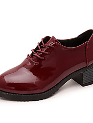 Women's Oxfords Spring / Summer / Fall Comfort / Pointed Toe Leather Outdoor / Casual Low Heel Lace-up