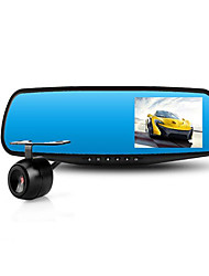 HD Rear Mirror with Electronic Dog Dual Lens 1080P/4.3 Inch Screen Driving Recorder